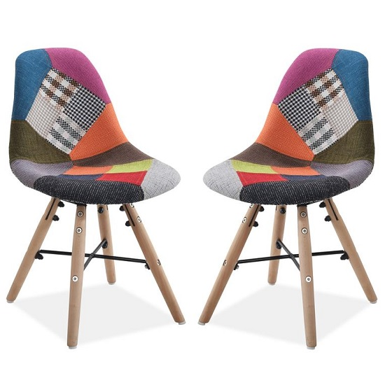 Product photograph showing Breuer Childrens Dining Chairs In Patched In A Pair