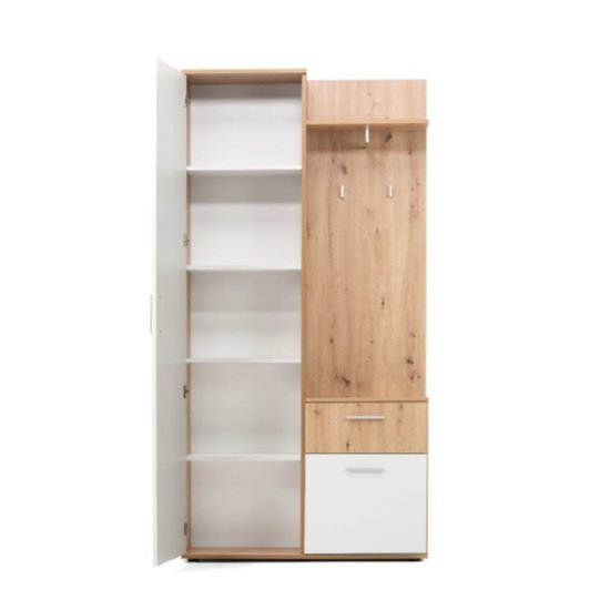 Breva Wooden Hallway Stand In Artisan Oak And White_2