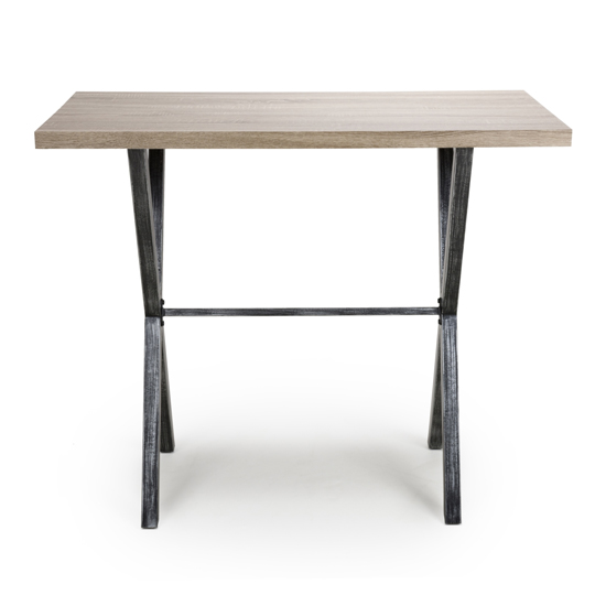 Brevik Wooden Bar Table In Oak With Black Metal Legs_2