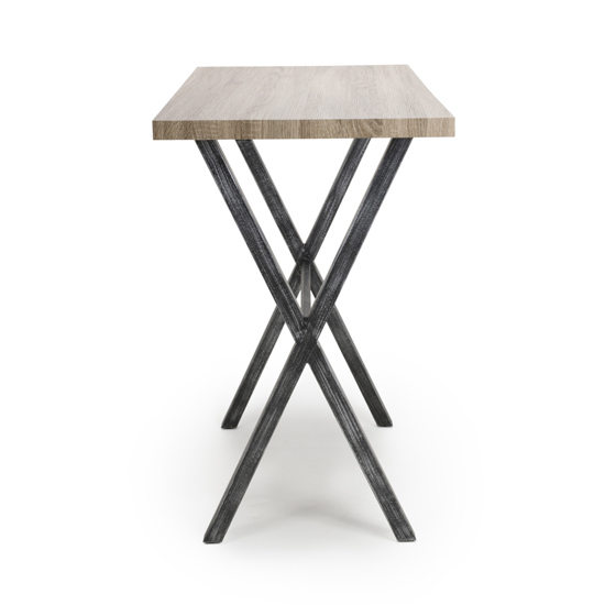Brevik Wooden Bar Table In Oak With Black Metal Legs_3