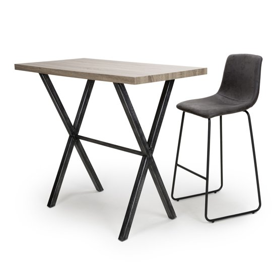 Brevik Wooden Bar Table In Oak With Black Metal Legs_6