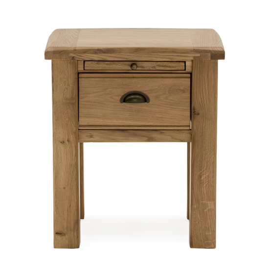 Brex Wooden 1 Drawer Lamp Table In Natural_2