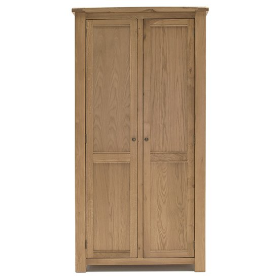 Product photograph showing Brex Wooden 2 Doors Wardrobe In Natural