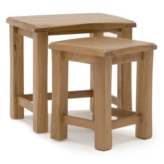 Brex Wooden Nest Of Tables In Natural