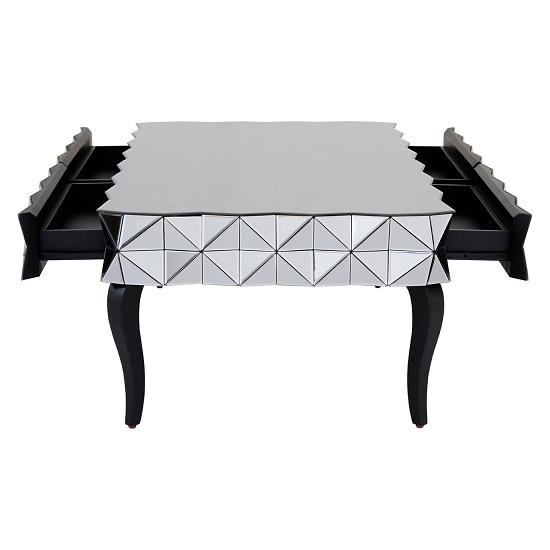 Brice Glass Coffee Table Rectangular In Silver With Wooden Legs_3