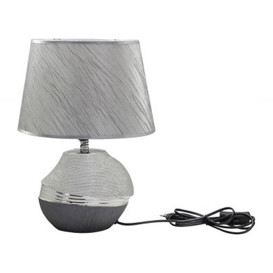 Bridgetown Ceramic Table Lamp In Silver_1