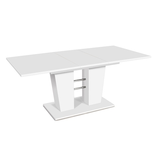 Brighton Wooden Extending Dining Table Rectangular In White