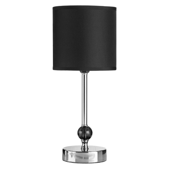Brika Black Fabric Shade Table Lamp With Chrome Base