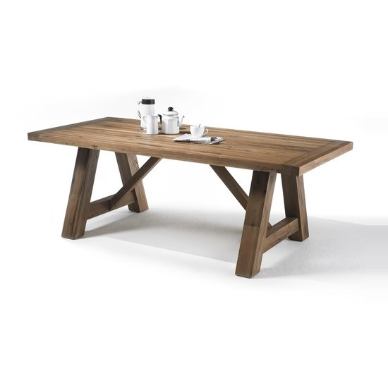 Bristol Dining Table In Solid Bassano Oak In 260cm