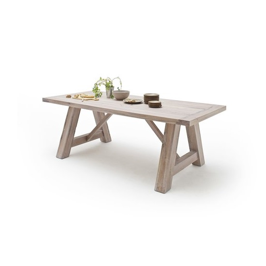 Bristol Wooden Dining Table In Solid White Oak In 260cm