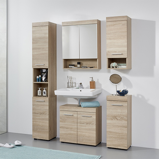 Britton Bathroom Furniture Set 5 In Sagerau Light Oak_2
