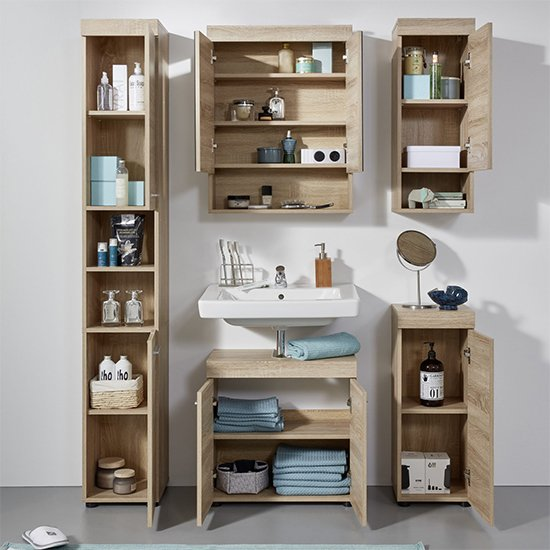 Britton Bathroom Furniture Set 5 In Sagerau Light Oak_3