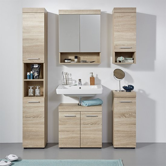 Britton Bathroom Furniture Set 5 In Sagerau Light Oak_1