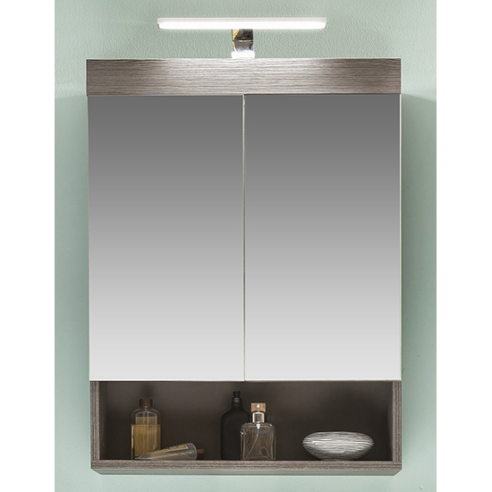 Britton LED Bathroom Furniture Set 4 In Sardegna Smoky Silver_4