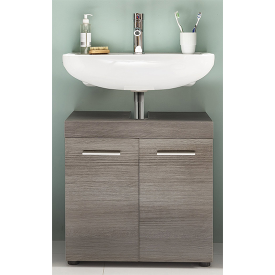 Britton LED Bathroom Furniture Set 4 In Sardegna Smoky Silver_5