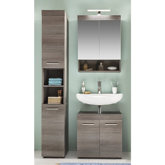 Britton LED Bathroom Furniture Set 4 In Sardegna Smoky Silver_1
