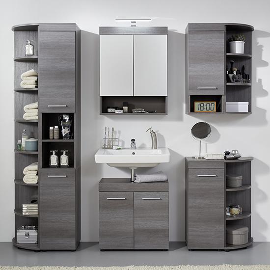 Britton Tall Bathroom Shelving Unit In, Tall Bathroom Shelving Units