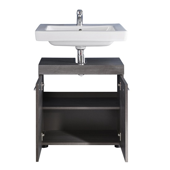 Britton Vanity Cabinet In Sardegna Smoke Silver With 2 Doors_5