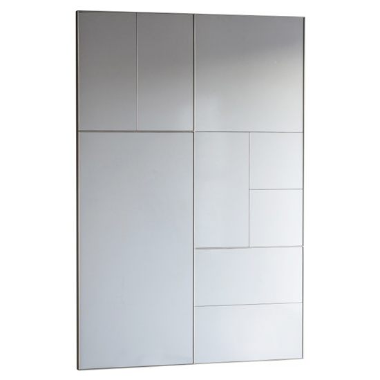 Broadheath Rectangular Wall Bedroom Mirror In Silver