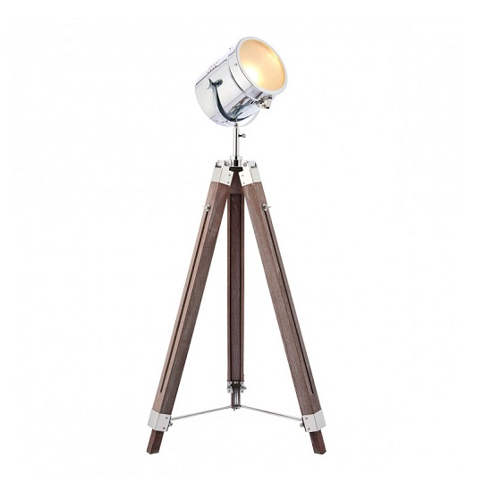 Broadway Adjustable Floor Lamp In Brown Finish