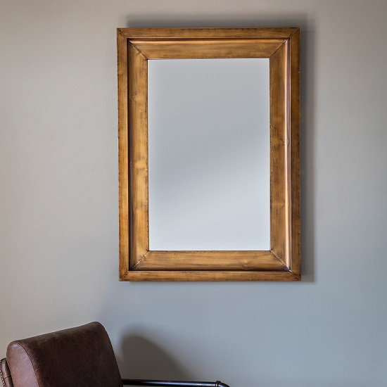 Brogan Decorative Wall Mirror Rectangular In Gold