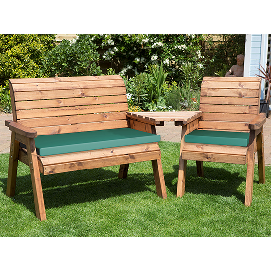 Broma Angled 2 Seater Bench And Chair Set_3