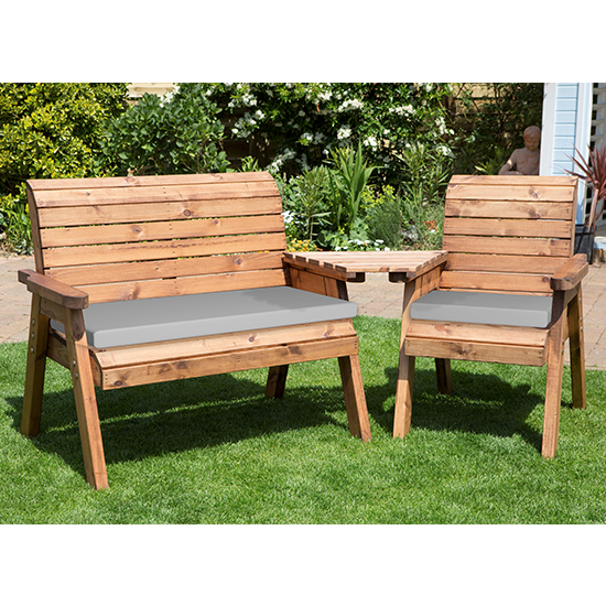 Broma Angled 2 Seater Bench And Chair Set_4