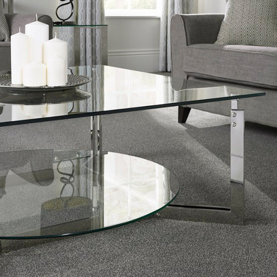 Bromley Glass Coffee Table With Polished Stainless Steel Base_4
