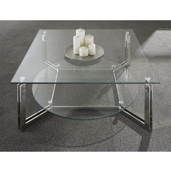 Bromley Glass Coffee Table With Polished Stainless Steel Base_2