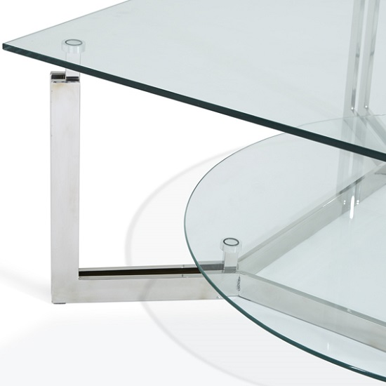 Bromley Glass Coffee Table With Polished Stainless Steel Base_7