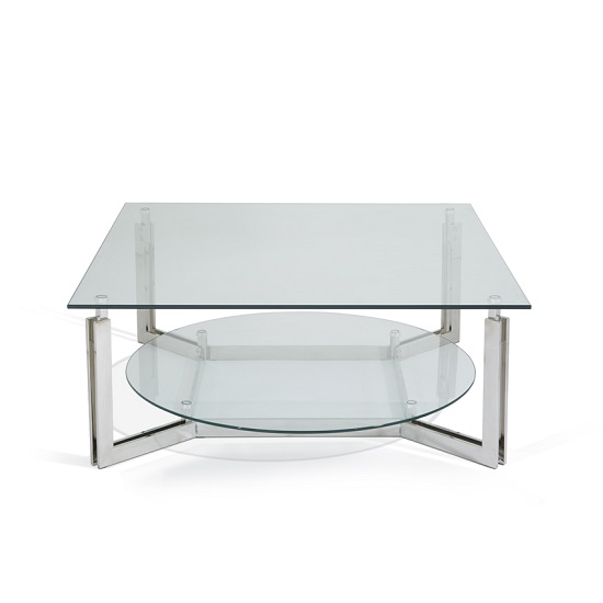 Bromley Glass Coffee Table With Polished Stainless Steel Base_8