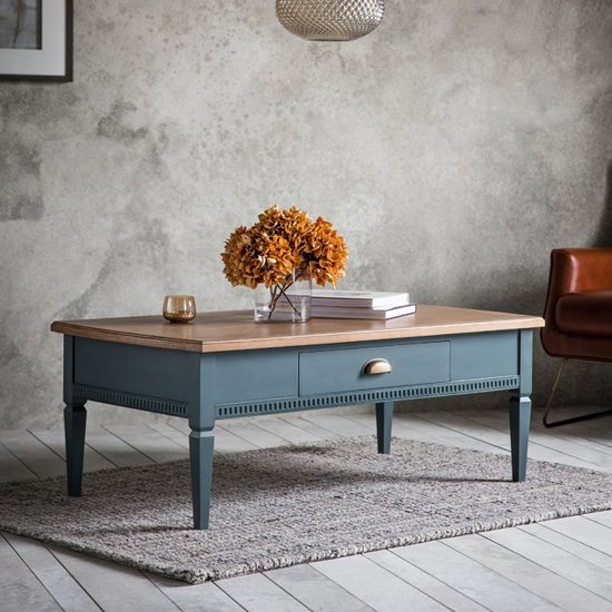 Bronte Coffee Table In Storm With 1 Drawer