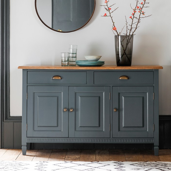 Bronte Sideboard In Storm With 3 Doors And 2 Drawers