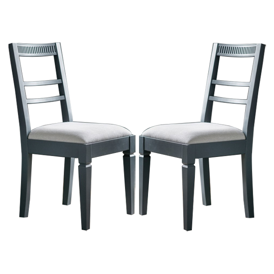 Bronte Storm Dining Chairs In Pair