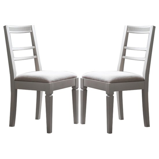 Bronte Taupe Dining Chairs In Pair