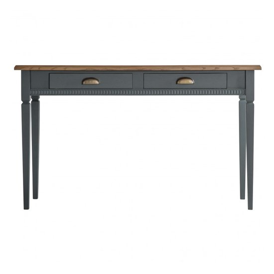 Bronte Wooden Laptop Desk In Strom With 2 Drawers_3