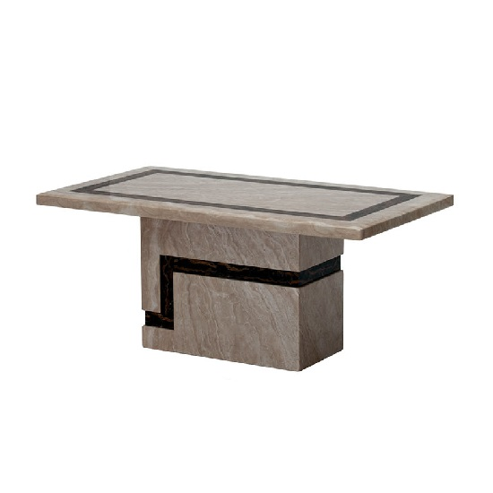 Brooke Contemporary Rectangular Marble Coffee Table