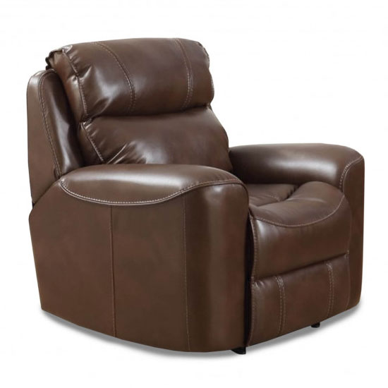 Brookland Leather Recliner Sofa Chair In Tan
