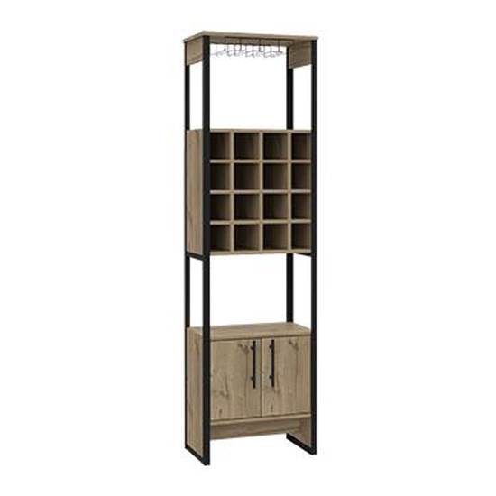 Brooklyn Tall Wine Rack In Bleached Pine With 2 Doors