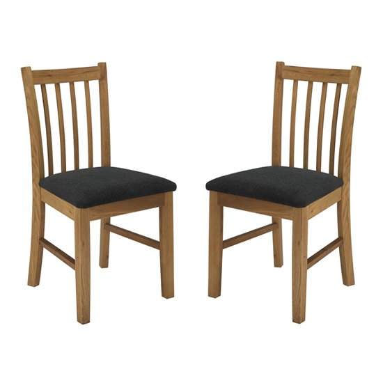 Brooklyn Wooden Oak Dining Chairs In Pair