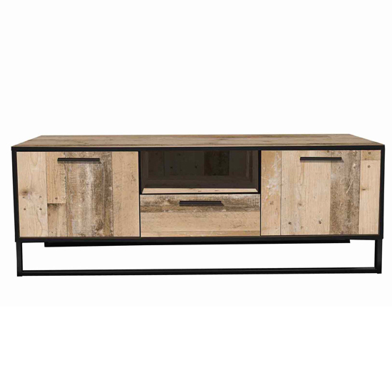 Brooklyn Wooden TV Stand In Pale Wood With 3 Drawers