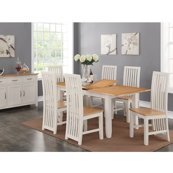 The Dining Room Brooklyn: Brooklyn Extendable Dining Set In Stone Painted With 6