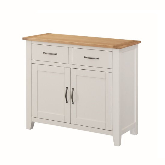 Brooklyn Wooden Sideboard In Stone Painted With 2 Doors