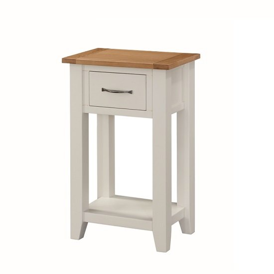 Brooklyn wooden telephone table in stone painted with