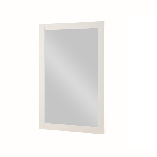 Brooklyn Wooden Wall Mirror Rectangular In Stone Painted