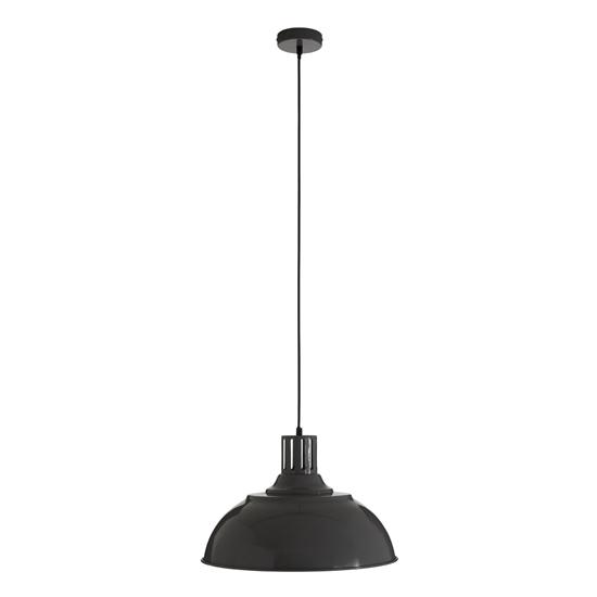 View Brookon vintage ball design shade pendant light in grey