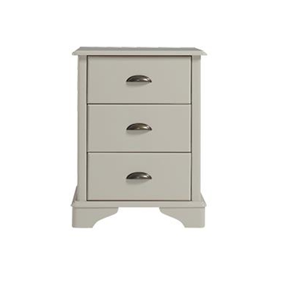 Brora Bedside Cabinet In Grey With 3 Drawers