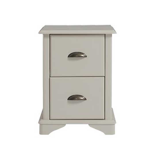 Brora Compact Bedside Cabinet In Grey With 2 Drawers
