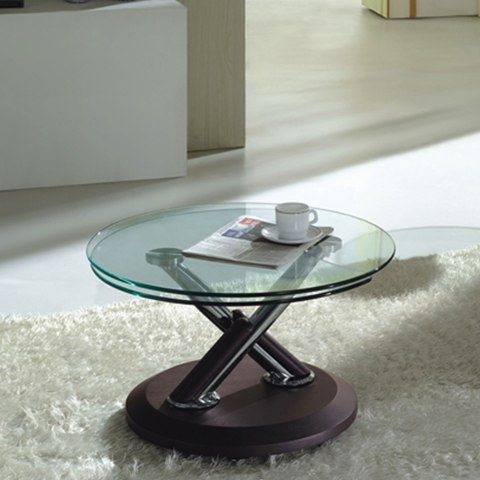 Tokyo Clear Glass Top Coffee Table In Brown 3785 Furniture