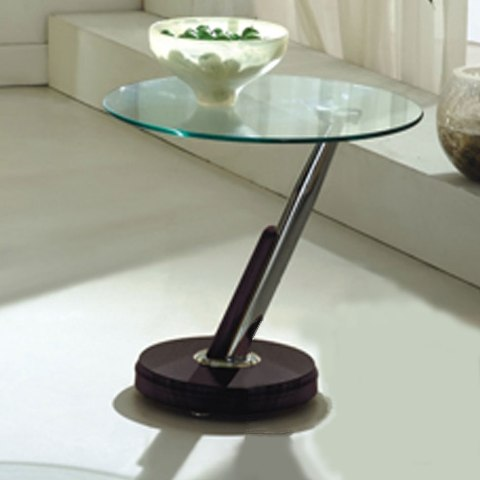 tokyo clear glass top lamp table in brown p 3787